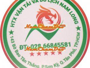 Logo nam châm dẻo dán xe HTX vận tải Nam Long