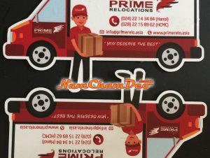 In logo nam châm dẻo dán xe Asia Prime