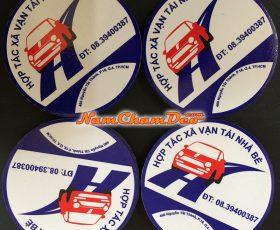 Logo dán xe Vận tải Nhà Bè chất liệu nam châm dẻo